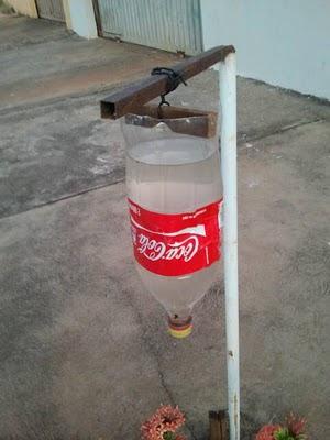 Irrigação gotejamento garrafa pet
