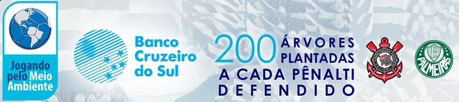 O Jogando Pelo Meio Ambiente é um projeto do Banco Cruzeiro do Sul em  parceria com Corinthians e Palmeiras contra o aquecimento global. fcf4ffec90b6a