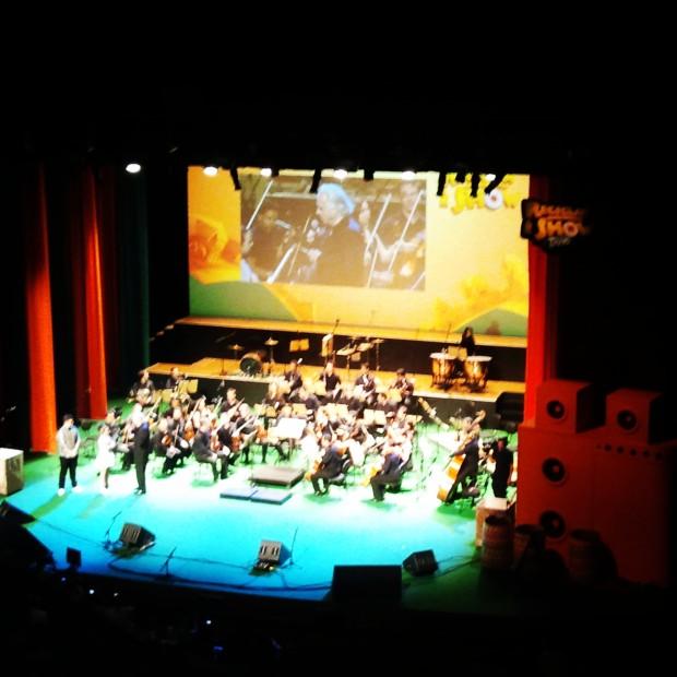 João Carlos Martins e a orquestra da Fundação Bachiana. #ReciclaréShowTang