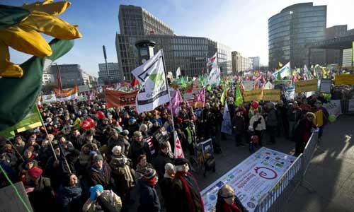 Mais de 100 organizações e associações ambientais e beneficentes convocaram o protesto, que vai até 26 de janeiro. Foto: AFP