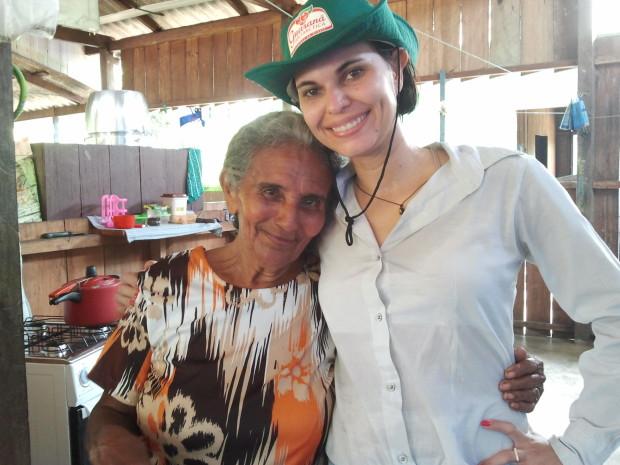 Eu e dona tereza, uma querida esta mulher, uma batalhadora!