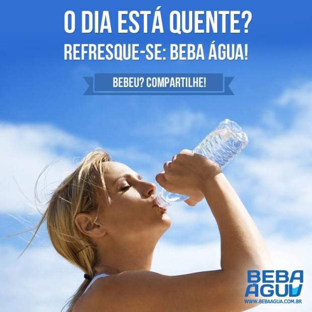 Beba água!
