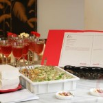 Alguns dos pratos apresentados e o local