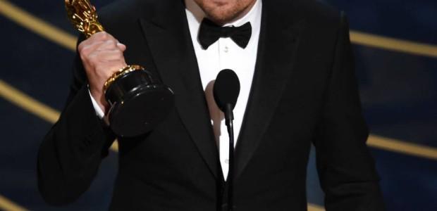 Leonardo DiCaprio em seu discurso no Oscar 2016.
