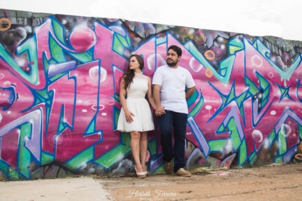 Muro grafitado na cidade de Parauapebas-PA. (Foto: Wallace Lopes)